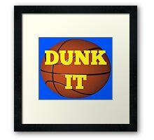 basketball (dunk it) Framed Print
