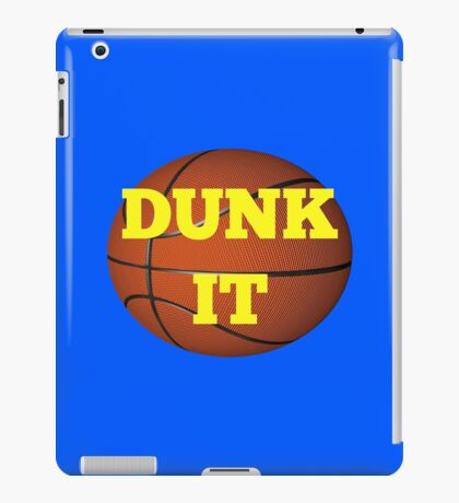 basketball (dunk it) iPad Case/Skin