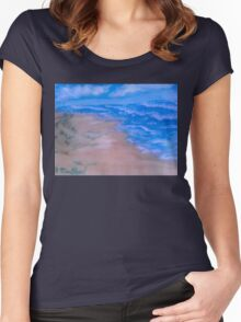 Small Seaside Dune Women's Fitted Scoop T-Shirt