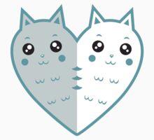 Cute cat-heart Kids Tee