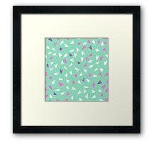 Pretty sweet hearts in celadon seafoam mint green.  Framed Print