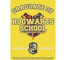 Graduate of Hogwarts School - Hufflepuff Photographic Print