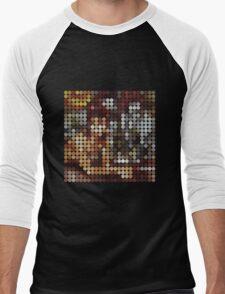 David Bowie, Diamond Dogs, Benday Dots. Men's Baseball ¾ T-Shirt
