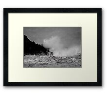 Wave watching Framed Print