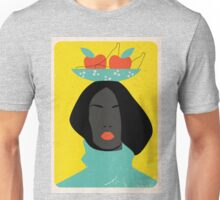 black woman in the Tutti-Frutti hat Unisex T-Shirt