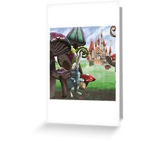 White Rabbit in the Wonderland Toadstool Forest Greeting Card