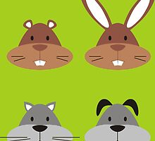 Animal Heads by goneficri