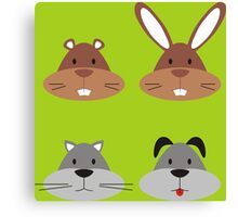Animal Heads Canvas Print