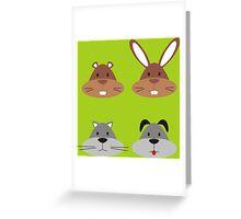 Animal Heads Greeting Card