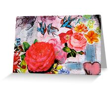 Flowers by the Garden Greeting Card