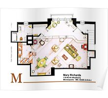 Mary Richards apt. from The Mary Tyler Moore Show Poster