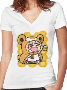 Um4ru x T3dd1urs4 Women's Fitted V-Neck T-Shirt