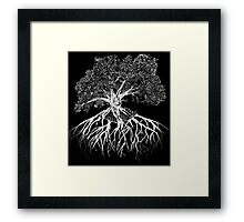 Etching of a Tree Framed Print