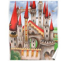 Wonderland Hearts and Turrets Poster