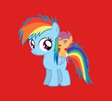 Baby Scootaloo And Rainbow Dash Unisex T-Shirt