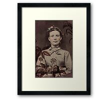 Girl in the Brush Framed Print