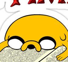 Adventure Time To Study Sticker