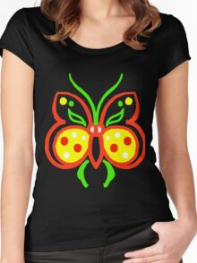 butterfly flower valentine Women's Fitted Scoop T-Shirt
