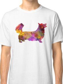 Welsh Corgi Pembroke in watercolor Classic T-Shirt