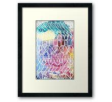 colorful indians Framed Print