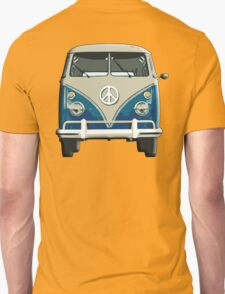 Volkswagen, Van, VW, Camper, Blue, Split screen, 1966 Volkswagen, Kombi (North America) T-Shirt