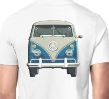 Volkswagen, Van, VW, Camper, Blue, Split screen, 1966 Volkswagen, Kombi (North America) Unisex T-Shirt