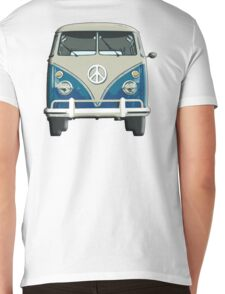 Volkswagen, Van, VW, Camper, Blue, Split screen, 1966 Volkswagen, Kombi (North America) Mens V-Neck T-Shirt