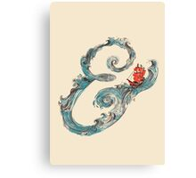 Water Ampersand Canvas Print