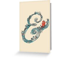 Water Ampersand Greeting Card