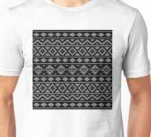 Aztec Essence Ptn III Grey on Black Unisex T-Shirt