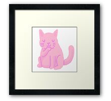 small pink cat Framed Print