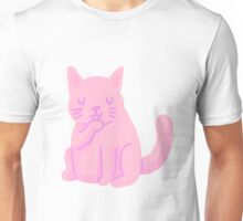 small pink cat Unisex T-Shirt