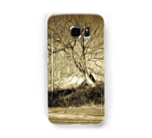 A digital painting in an old print style of a Romanian Winter scene Samsung Galaxy Case/Skin