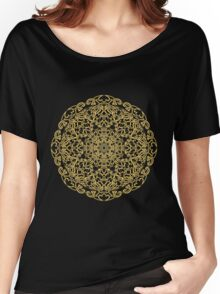 gold pattern mandala Women's Relaxed Fit T-Shirt