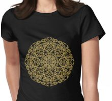 gold pattern mandala Womens Fitted T-Shirt