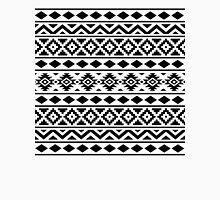 Aztec Essence Ptn III Black on White Unisex T-Shirt