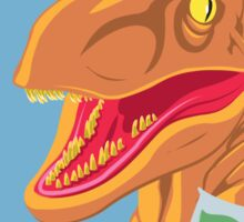 Velociraptor Science Sticker