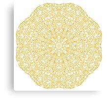 gold pattern mandala Canvas Print