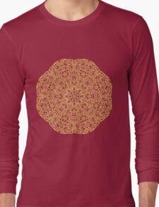 gold pattern mandala Long Sleeve T-Shirt