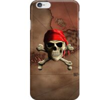 The Jolly Roger Pirate Map iPhone Case/Skin