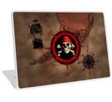 Pirate Compass Rose And Map Laptop Skin