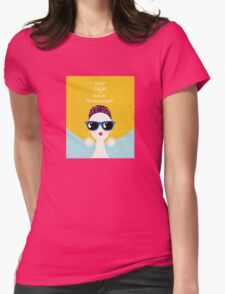 Vogue style woman in sunglasses- leo horoscope. Womens Fitted T-Shirt