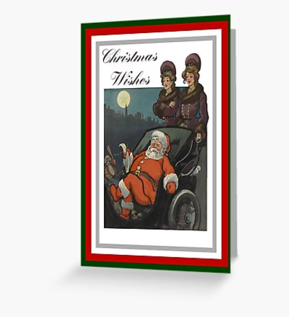 Vintage Christmas Vintage Puck Cover Greeting Card