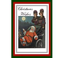 Vintage Christmas Wishes Greeting Photographic Print