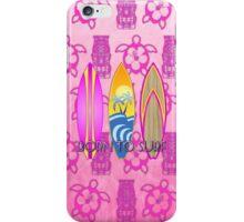 Pink Born To Surf Pink Tiki iPhone Case/Skin