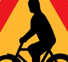 Swedish roads Awesome Bycicle sign drawn in black  Sticker
