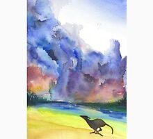 Greyhound Running on Stormy Beach Unisex T-Shirt