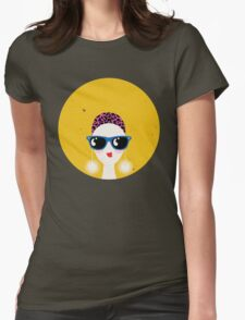 Sunglasses glamour woman - leo horoscope. Womens Fitted T-Shirt