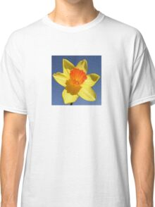 Yellow and Orange Colored Daffodil Close Up Classic T-Shirt