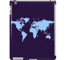 Light blue world map iPad Case/Skin